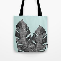 Two tropical leaves Tote Bag