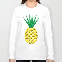 pineapple Long Sleeve T-shirts featuring Pineapple by mailboxdisco