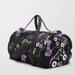 Video Game Lavender and Black Duffle Bag