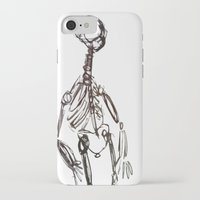 skeleton iPhone & iPod Cases featuring Skeleton by Myles Hunt