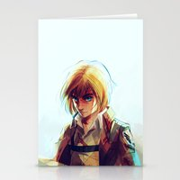 viria Stationery Cards featuring Armin Arlert by viria