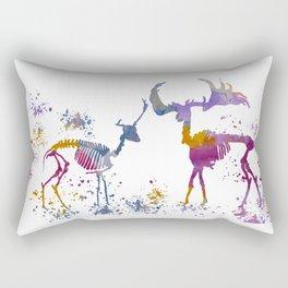 Deer Skeletons Rectangular Pillow