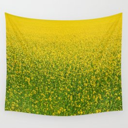 Mustard Field (of Yellow and Green) Wall Tapestry