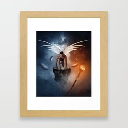 following the lights Framed Art Print