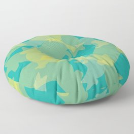 Blue & Yellow Corgi Pattern Floor Pillow