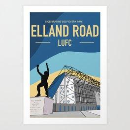 Leeds United Print - Elland Road - Bremner Statue - Football Art Art Print