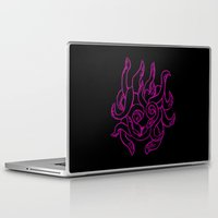 kraken Laptop & iPad Skins featuring Kraken by Glyphoteque