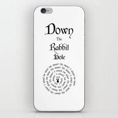 Alice In Wonderland Down The Rabbit Hole iPhone & iPod Skin
