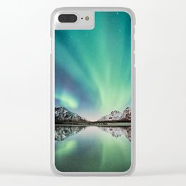Stars Come Out At Night Clear iPhone Case