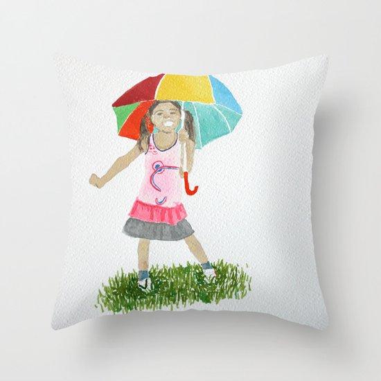 My umbrella Throw Pillow