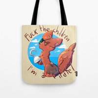fnaf Tote Bags featuring Foxy the pirate by TRGreta