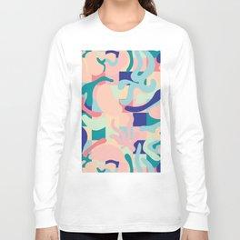 Summer Vibes Pattern Long Sleeve T-shirt