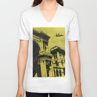 milan V-neck T-shirts featuring Milan 3 by Anand Brai