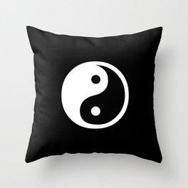 Yin Yang Black And White Throw Pillow