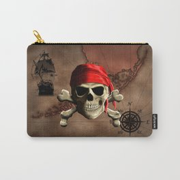 The Jolly Roger Pirate Map Carry-All Pouch