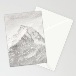Wild mountainside black and white color Stationery Cards