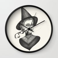 witchcraft Wall Clocks featuring Witchcraft by Caitlin McCarthy