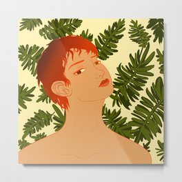Leaf Me Be Metal Print