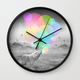 The Echoes of Silence Wall Clock