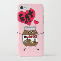 nutella iPhone & iPod Cases featuring Nutella by Aurelie