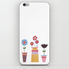 Floral Pots iPhone Skin