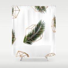Palm + Geometry V2 #society6 #decor #buyart Shower Curtain