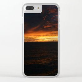 South Pacific Sunset DPG150625c Clear iPhone Case