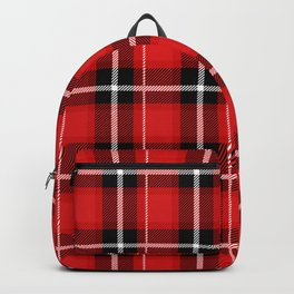 Red + Black Plaid Backpack