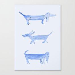 The Blue Dachshund Canvas Print