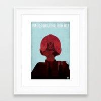megaman Framed Art Prints featuring Megaman Propaganda by andbloom