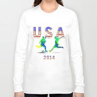 usa Long Sleeve T-shirts featuring USA by Robin Curtiss