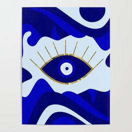 Lava All Seeing Evil Eye Poster