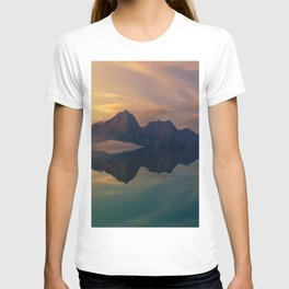 Fantasy mountain reflection T-shirt