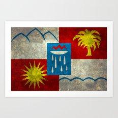 Sochi flag - Vintage version Art Print