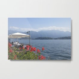 Panoramic view of Lake Como, Italy. Metal Print