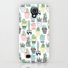 Cute Cacti in Pots Galaxy S4 Slim Case