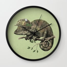 Born to Hide - Color Option Wall Clock