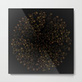 Vinefly on black Metal Print