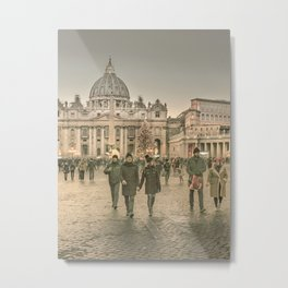 Conciliazione Street, Rome, Italy Metal Print