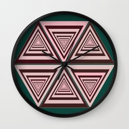 6 OP Triangles Wall Clock