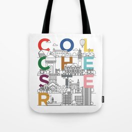 Colchester Town - Typoline Cities Tote Bag