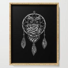 Dream Catcher Owl Serving Tray