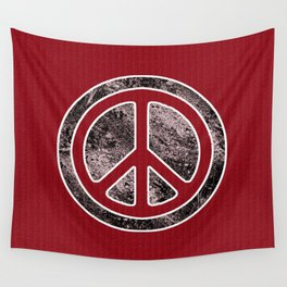Peace Symbol-Dissd Wall Tapestry