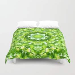 GREEN LEAVES MANDALA Duvet Cover