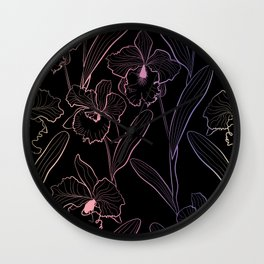 Wild orchids  #Orchid Wall Clock