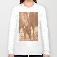 chicago bulls Long Sleeve T-shirts featuring Bulls Fight by Four Hands Art