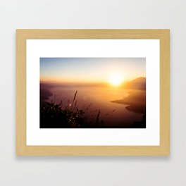 The view from my tent over Lake Atlitán Framed Art Print