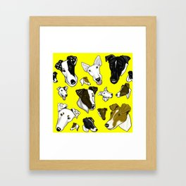 Smooth Fox Terrier -Yellow Framed Art Print