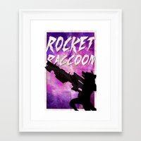 rocket raccoon Framed Art Prints featuring Rocket Raccoon by Shelby Breese