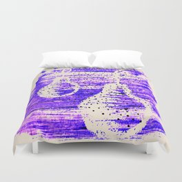 Pear. Abstract art. Brushstrokes Duvet Cover